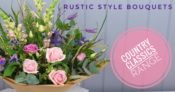 Country Garden Style Flower Bouquets Delivered Roses Foliage