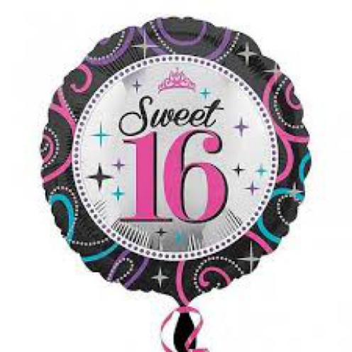 Sweet 16th Birthday Helium Balloon