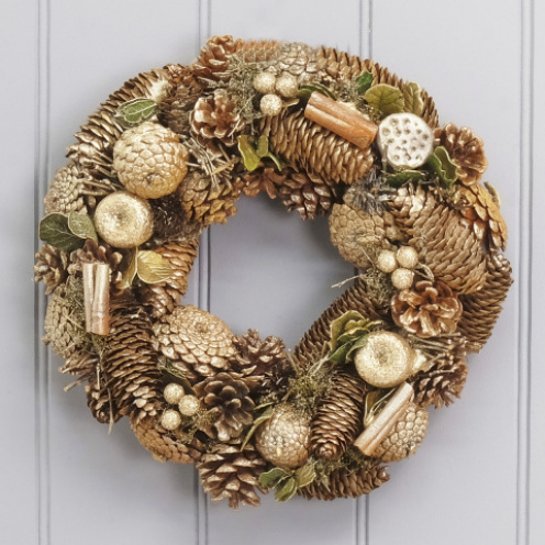 Golden Glitter Wreath