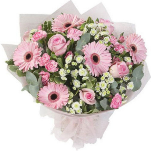 Soft Pinks Hand-tied