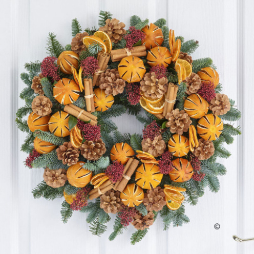 Christmas Clematine Door Wreath