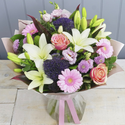 Pastel Pink and Cream Hand-tied