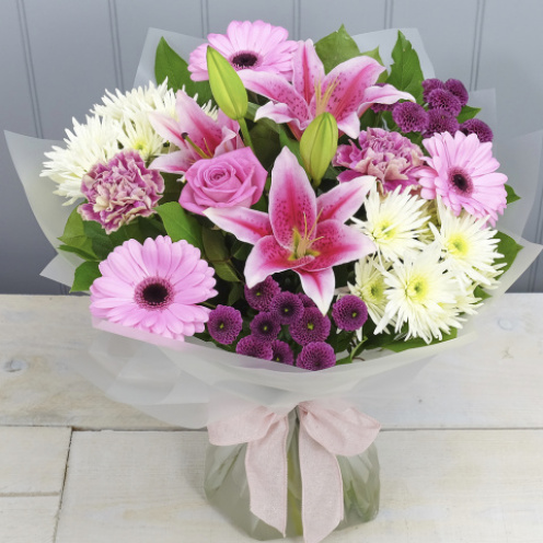 Pink Delights Hand-tied