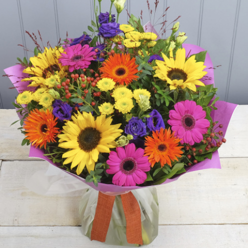 Vibrant Sunflower Hand-tied
