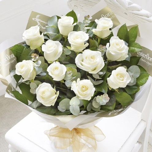Heavenly Rose Hand-tied White